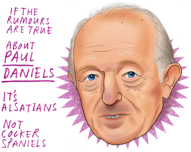 If rumours are true, About Paul Daniels, It's Alsatians, Not Cocker Spaniels