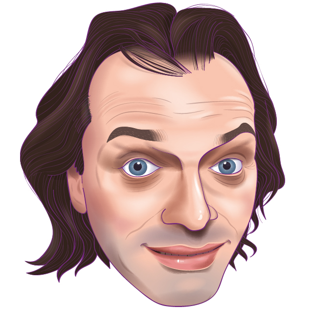 Rik Mayall illustration
